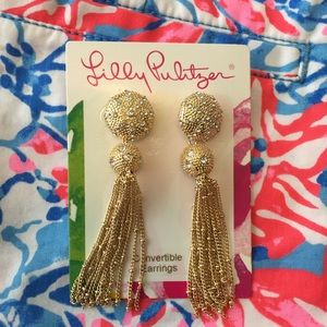 Lilly Pulitzer SandDune Tassel Convertible Earring